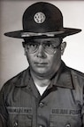 A photo of U.S. Air Force retired Chief Master Sgt. Paul Panamarenko, military drill instructor for 3707th Squadron, flight W039, back in 1979.
