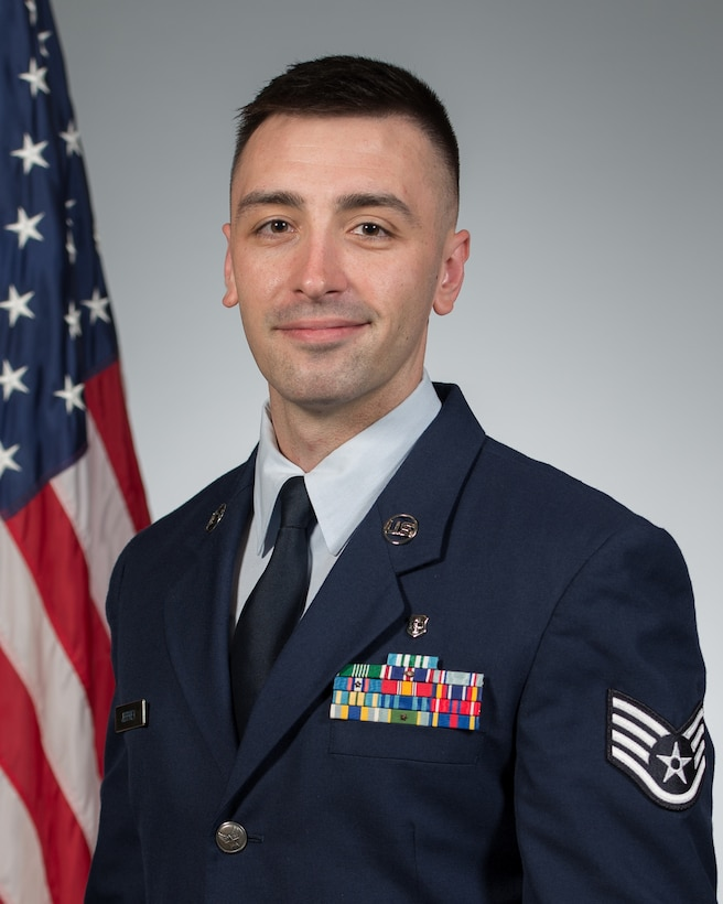 Staff Sgt. Gary Jeffrey, storage and distribution noncommissioned officer in charge with the 81st Medical Support Squadron, Keesler Air Force Base, Mississippi (U.S. Air Force photo)
