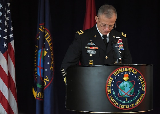 Defense Intelligence Agency Director Lt. Gen. Robert Ashley Jr. delivers remarks honoring the service, life and memory of Nicholas Shadrin. After defecting from the Soviet Union, Nicholas Shadrin worked at DIA while also serving as a double agent for the FBI. On a mission in Vienna in 1975, Shadrin was abducted by the KGB and killed from a sedative overdose.