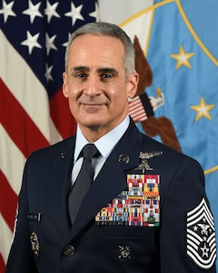 An Air Force officer poses for a portrait.