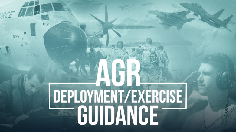 Graphic image which says AGR deployment and exercise guidance.