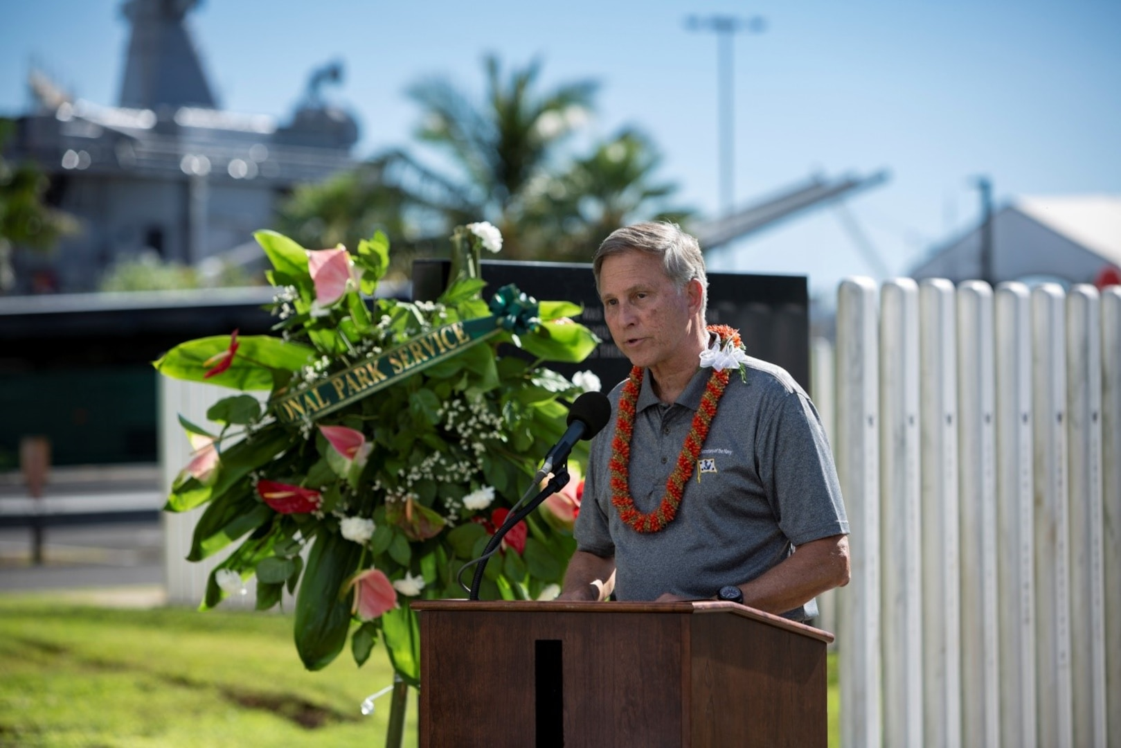 Assistant Secretary of the Navy Visits Pearl Harbor