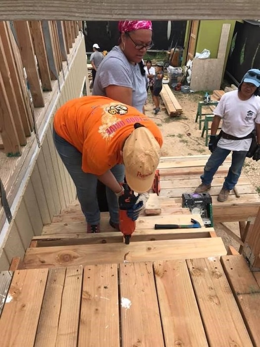 Tira Faiivae Honolulu District Budget, Manpower & Management Chief, Tira Faiivae and Budget Analyst Matthew Yoshioka volunteered with Habitat for Humanity Nov.16, 2019 to help build a home in Kapolei, Hawaii. Both Faiivae and Yoshioka volunteered with the Army Society of Military Comptrollers (ASMC-Aloha Chapter) a non-profit educational and professional organization for military and civilian, involved in the overall field of military. ASMC provides professional development and promotes ethical behavior in all aspects of defense financial management comptrollership.