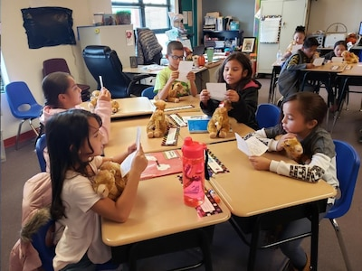 The gift of giving: Third-grade class receives an unexpected package