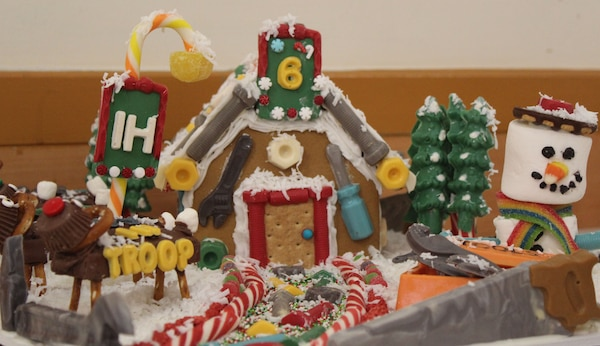 Photo of a gingerbread house that placed in the top three of the 2019 Naval Support Activity Philadelphia Morale, Welfare and Recreation's annual competition. This year, DLA Troop Support won the top three places.