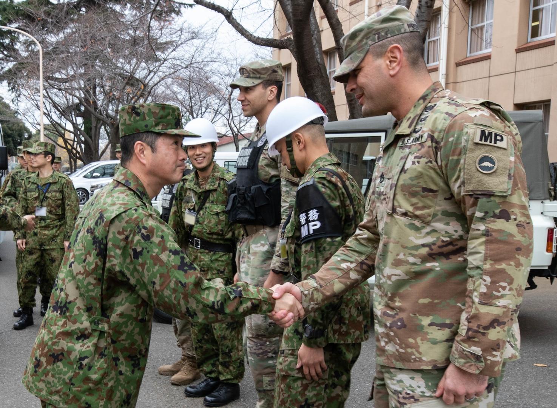 Japan Provost Marshal Visits Yama Sakura 77