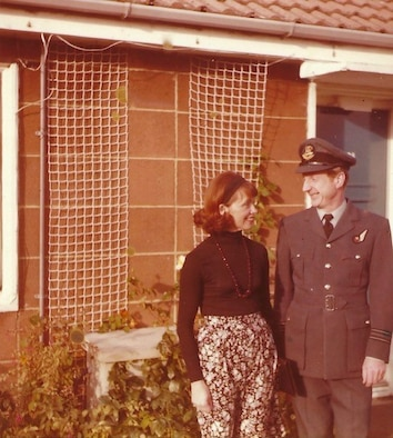 RAF Wing Commander Basil Turner (ret.) and his wife, Eleanor. (Courtesy photo)