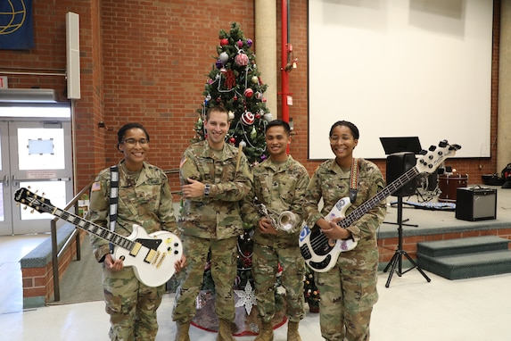 380th Army Reserve Band spreading double holiday cheer