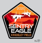 The overall Sentry Eagle 2020 patch shows two F-15 aircraft over Crater Lake, Ore., one of the most distinctive geographic features near the 173rd Fighter Wing in Klamath Falls, Ore. The exercise planned for the summer of 2020 will feature this and several other patches.