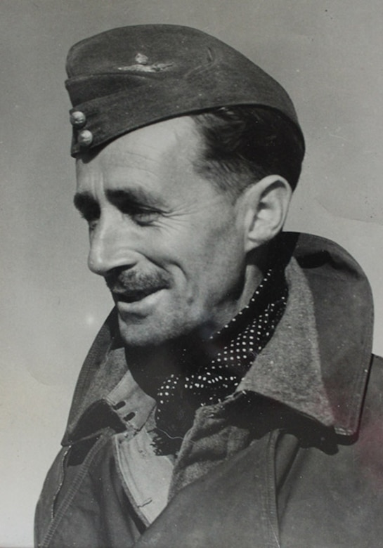 This photo, taken in 1939, shows Wing Commander Richard Kellett, 149 Squadron pilot, during his time at RAF Mildenhall, England, during World War II. Kellett was the lead pilot in a combined force of Wellington bombers from RAF Mildenhall, RAF Feltwell and RAF Honington, which carried out daylight bombing raids during the Battle of Heligoland Bight, Germany, Dec. 18, 1939. The Battle of Heligoland Bight was the first named battle of World War II. (Courtesy photo)