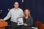 NNSY DisABILITY Awareness Committee ERG Chairperson Daniel Freeh and Guest Speaker Dr. Debbie Pfeiffer from Virginia School for the Deaf and the Blind.