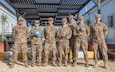 "A week-long Field Sanitation Team Certification Course, spearheaded by U.S. Army Sgt. Matthew A. Kolenski (far right), with 898th Medical Detachment Preventative Medicine, 3rd Medical Command (Deployment Support) ""Desert Medics,"" was held from Dec. 9 to Dec.13, 2019 at Joint Training Center-Jordan. Soldiers must be ready and capable to conduct the full range of military operations to defeat all enemies regardless of the threats they pose. (U.S. Army photo by Shaiyla B. Hakeem)"
