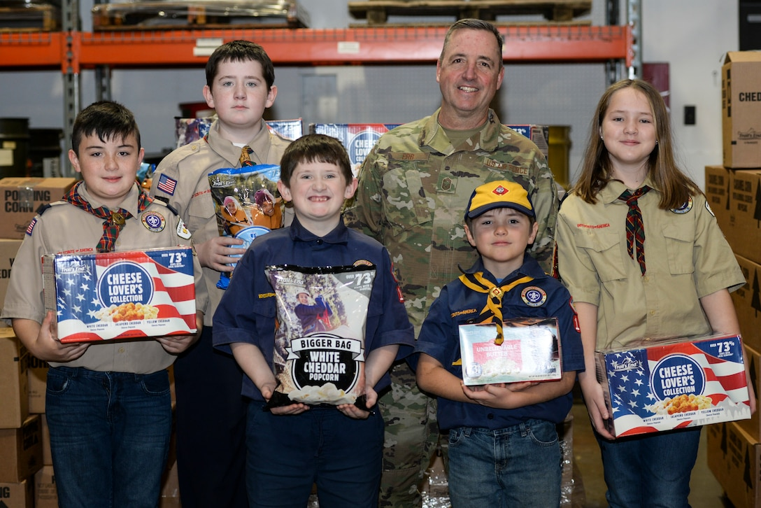 Wright-Patt Receives BSA Popcorn Donation