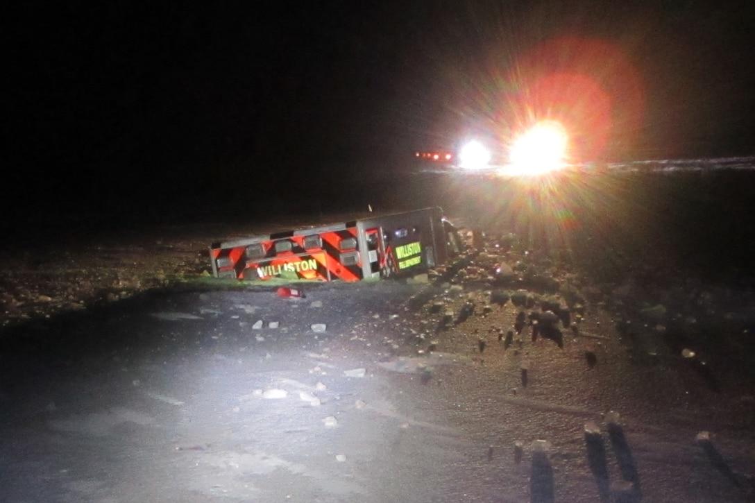 Photo of ambulance accident on U.S. Highway 83, taken Nov. 29, 2019.