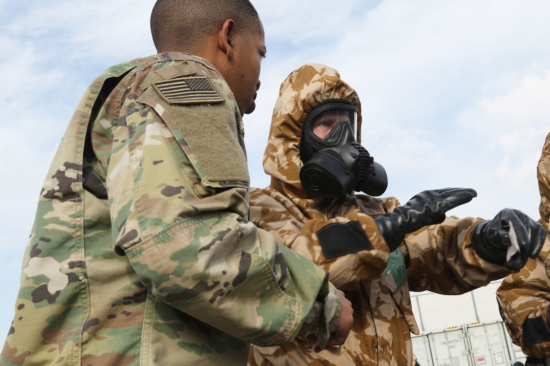 Simulated chemical attack