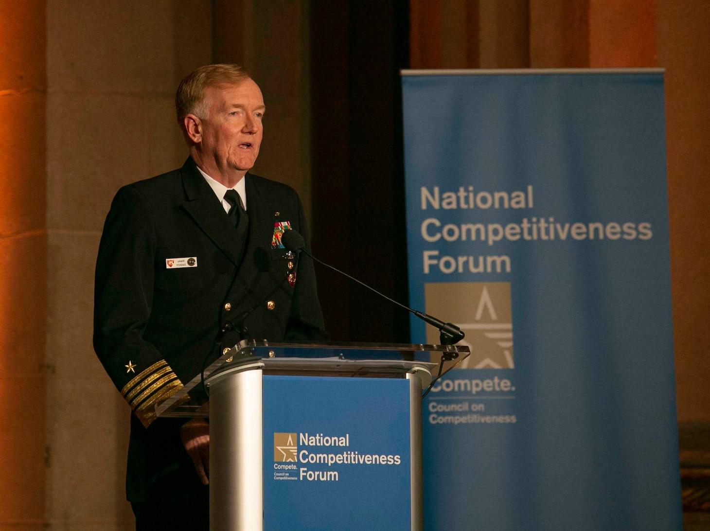 Adm. James G. Foggo III; U.S. Naval Forces Europe-Africa; Council on Competitiveness;