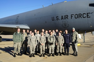 Cadets from the Civil Air Patrol Edmond Composite Squadron join the 507th Air Refueling Wing for a KC-135 orientation flight Dec. 17, 2019, at Tinker Air Force Base, Oklahoma. (U.S. Air Force photo by Senior Airman Mary Begy)