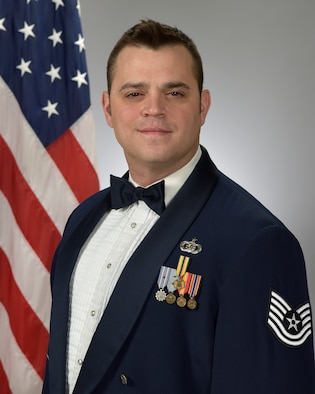 Official photo of TSgt Gerald Welker, French Horn with the Academy Winds and Concert Band, two of nine ensembles in the United States Air Force Academy Band, Peterson Air Force Base, Colorado Springs, CO.