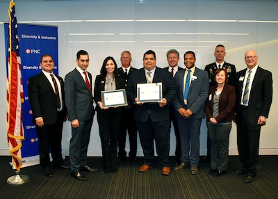 The ESGR Patriot Award was presented to two employees with PNC Financial Services Group during a ceremony Dec. 17.