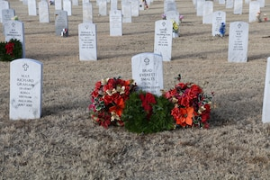 Wreaths Across America ceremony at the Altus City Cemetery.