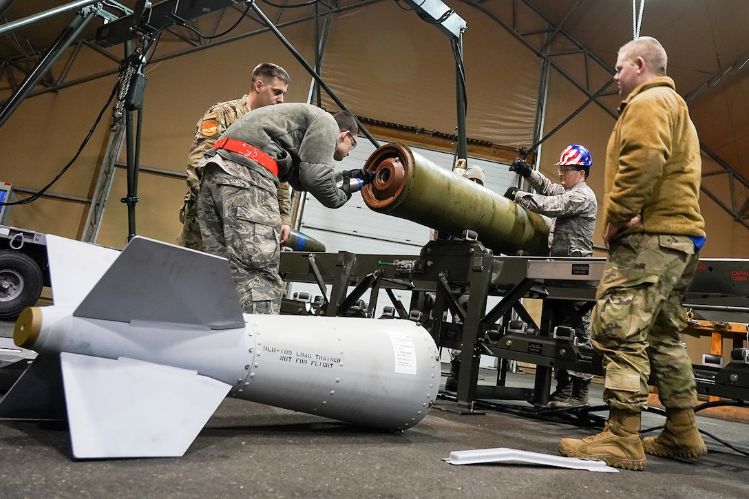 3rd Munitions Squadron Airmen build new bombs, lethality