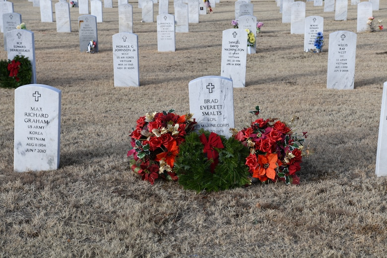 Wreaths Across America ceremony at the Altus City Cemetery.