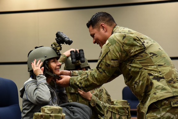 Honorary Commanders visit the U.S. Air Force Expeditionary Center