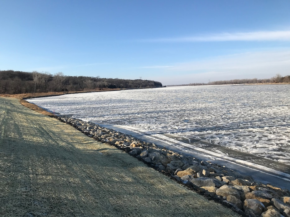 Final inspection of Cedar Creek levee repair, Dec. 12, 2019