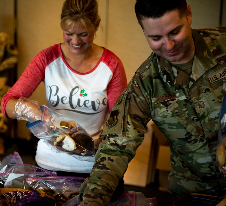 The Tyndall Spouses Club and Tyndall First Sergeants Group held a Cookie Caper event