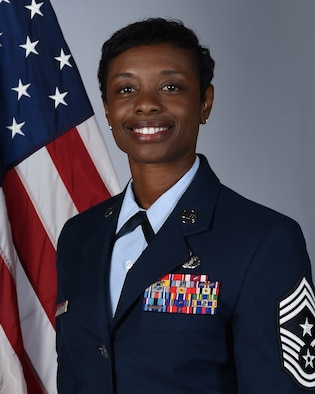 Chief Master Sgt. Tamar S. Dennis official photo.