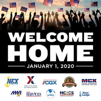 New law provides eligible Veterans and Primary Family Caregivers with access to DoD and Coast Guard commissaries, exchanges, and morale, welfare, and recreation retail services beginning Jan. 1, 2020. (Courtesy graphic)