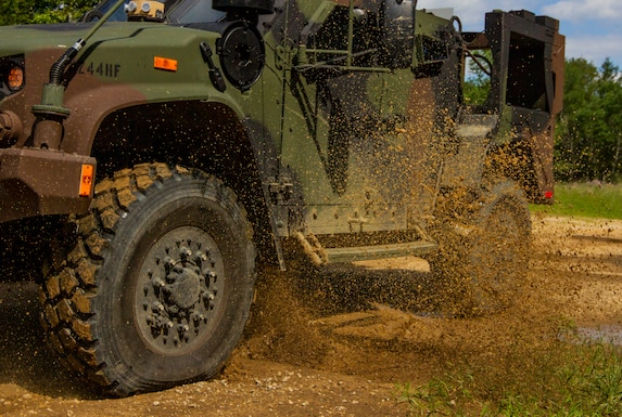 New vehicle tackles obstacle course
