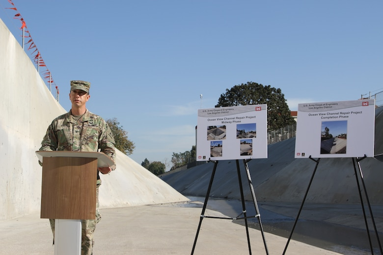 The U.S. Army Corps of Engineers Los Angeles District and the Orange County Flood Control District completed flood channel repairs before Southern California's flood season.