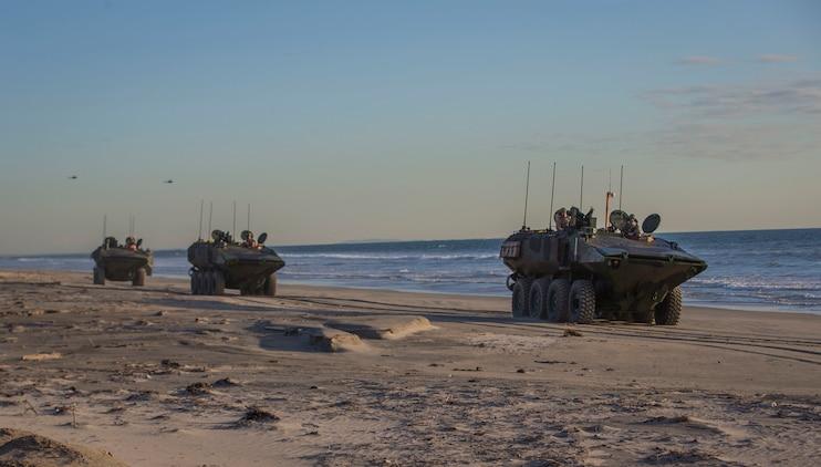 Pendleton Marines put Amphibious Combat Vehicle to the test
