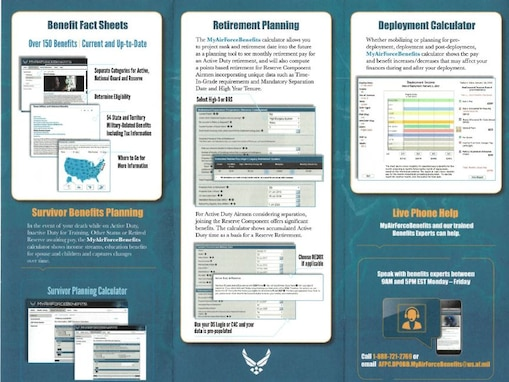 The Air Force released a benefits website, placing information on more than 150 benefits in one place.