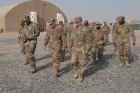 Brig. Gen. Dion Moten visits 404th Signal Company