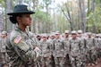 "U.S. Army Reserve Sgt. Alycia Perkins, a drill sergeant and all-wheeled vehicle mechanic from Bravo Company, 2nd Battalion, 485th Infantry Regiment, 2nd Brigade, 98th Training Division (Initial Entry Training), watches over Basic Combat Training recruits at Fort Jackson, South Carolina. As a U.S. Army Reserve drill sergeant, Perkins augments Active Duty drill sergeants for one of the three phases of BCT. The Columbia, South Carolina resident says she finds the last phase of BCT the most rewarding as a drill sergeant. ""It is not so much of the yelling and the teaching them anymore, it's more about helping them understand who they are and what kind of Soldier they CAN be, and then helping them realize their goals."""