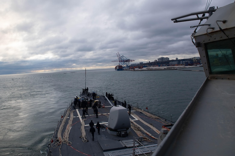 USS Ross (DG 71); Odesa, Ukraine; port visit; Black Sea