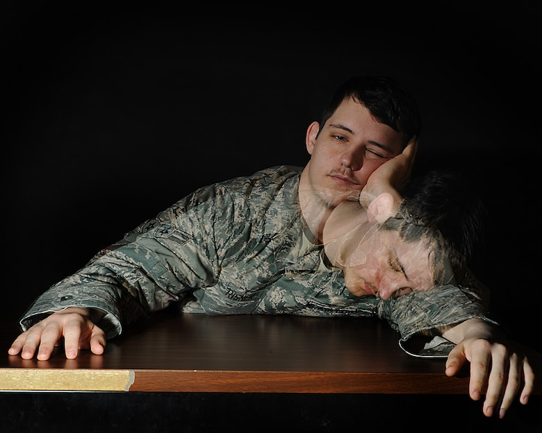 Sleepy airman photo