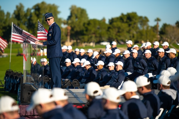 56th FW CC speaks at Patriot All-America