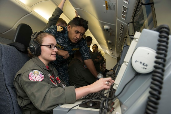 VP-16 conducts flight operations with the Bangladesh Navy.