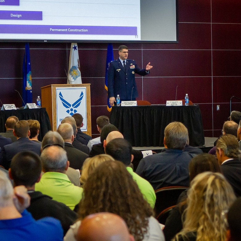 Air Force leaders met with professionals from construction and other industries to lead to the rebuild of Tyndall AFB.