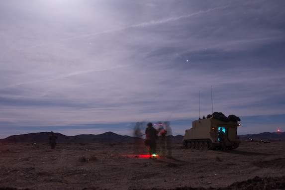 Soldiers set up an OE254 antenna after moving their tactical operations center (TOC).