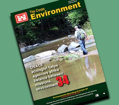 This edition of The Corps Environment highlights Environmental Operating Principle #5, Consider the environment in employing a risk management and systems approach throughout the life cycles of projects and programs. It features articles from Karen J. Baker, USACE chief, Environmental Division, titled Embracing NEPA as a risk identifier and mission enabler; the Oak Ridge Institute of Science and Education/U.S. Army Corps of Engineers partnership to enable Army installations' critical scientific, research and health initiatives; and more....