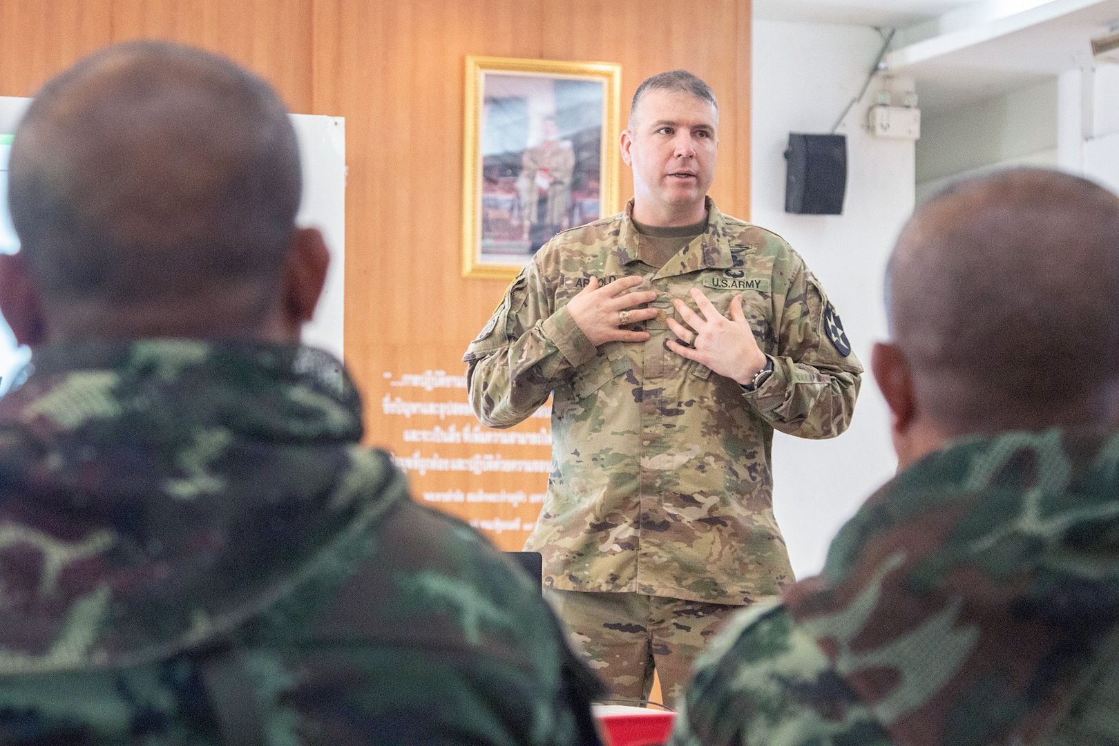 U.S., Thai Soldiers Conduct Combined Staff Exercise