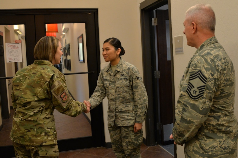 AETC's CMSgt Gudgel visits Sheppard