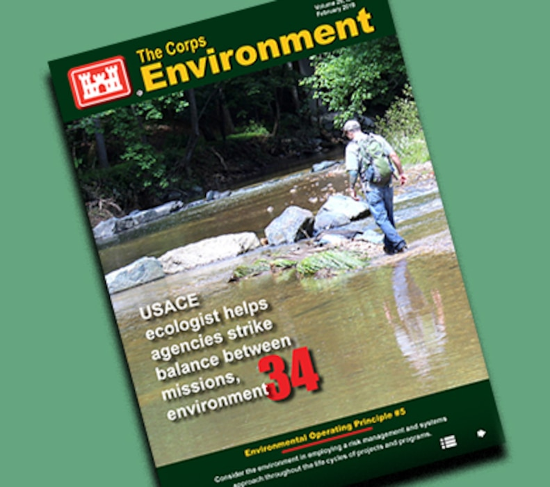 Check out the new issue of The Corps Environment (Feb. 2019), now available online! District-related articles include one on White Sands Missile Range (p. 24) and one on the Restoration of Abandoned Mine Sites (p. 25).