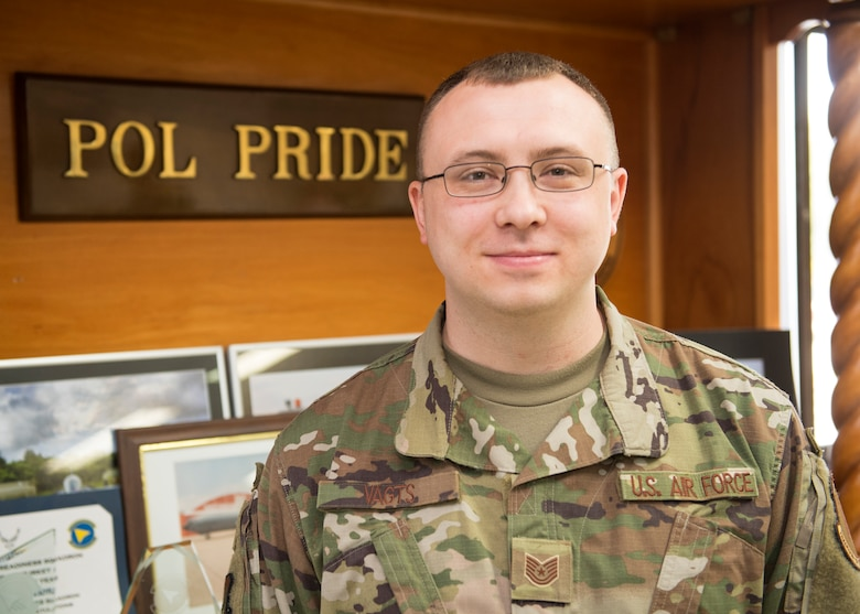 Congratulations to U.S. Air Force Tech. Sgt. Loren Vagts, 39th Logistics Readiness Squadron NCO in charge of fuels fixed facilities, for winning the Larger Than Life Award at Incirlik Air Base, Turkey, Feb. 1, 2019.