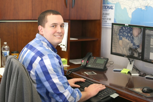 Tyler Walker, pictured, is the supervisor of fleet management at Arnold Air Force Base. He started his job in fleet management and analysis at Arnold Air Force Base in August 2017, and he was promoted to supervisor in May 2018. Prior to making his way to Arnold, Walker spent eight years serving in the U.S. Marine Corps. (U.S. Air Force photo by Deidre Ortiz)