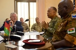 Maj. Gen. William J. Walker, commanding general, District of Columbia National Guard, speaks during a signing ceremony with the National Armed Forces of Burkina Faso at the Ministry of Defense Feb. 1, 2019.  Burkina Faso became the 76th nation to join the National Guard Bureau's State Partnership Program.  Dignitaries to witness the historic signing included Burkina Faso's Secretary General of the Ministry of Defense Justin Som, U.S. Ambassador to Burkina Faso Andrew Young, Brig. Gen. Moses Miningou, the chief of general staff for the National Armed Forces of Burkina Faso, and U.S. Army Brig. Gen. Steven DeMilliano, deputy director for strategy, engagement and programs directorate at United States Africa Command.